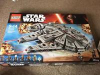 Millennium falcon LEGO set.