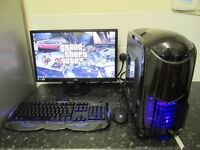 """★Complete Quadcore Gaming Pc With 22"""" Slim Full HD Monitor★"""