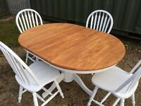 Beautiful Extending Pedestal Table And Chairs