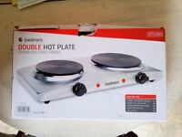 Electric cooker. 2 heating plates.