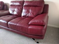 Leather Sofa 3 and 2 seater