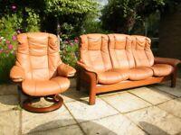 Stressless Ekornes Mayfair Recliner Chair and Sofa.