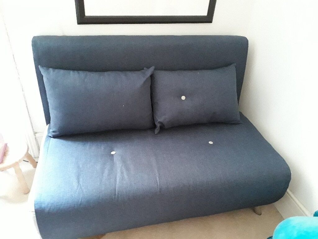 Made haru small sofa bed navy