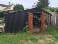 Free Shed, contents, glass and Paving