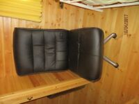 Leather effect swivel chair