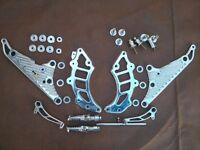 DUCATI Monster M900 DPM Set Footpegs fussrasten Estriberas Kit Aluminum 695 S4 620 800 1000