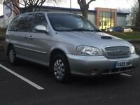 KIA SEDONA 2.9 DIESEL*7 SEATER*£999*LOW MILES*LONG MOT*CHEAP TO RUN FAMILY CAR*PX WELCOME*DELIVERY