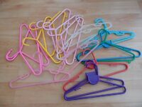 70-PLUS ASSORTED CHILDREN'S CLOTHES HANGERS