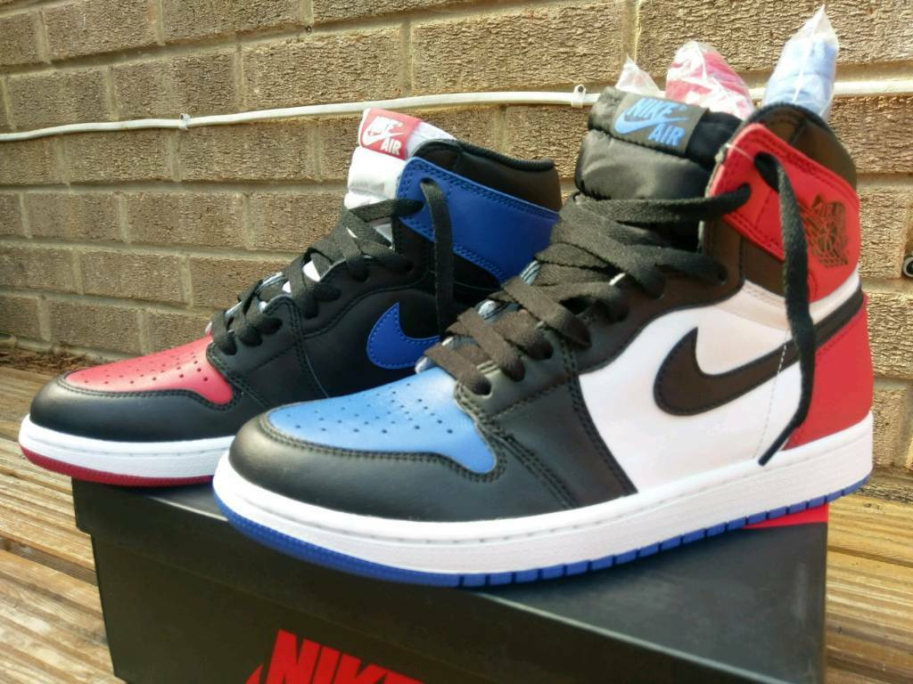 Nike Air Jordan 1 Retro High Top 3 size 8.5UKin Bradford, West YorkshireGumtree - Nike Air Jordan 1 Retro High Top 3Size 8.5UKCondition is pretty much brand new, only worn once to try on.Reason for selling is the size is too big.Includes the different colour laces still packed.Ask for reasonable offers