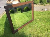 Great walnut effect bedroom Mirror 78cm x 98cm