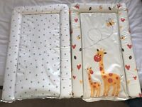 2x Baby Changing Mat New Designs Boy/Girl - Waterproof Padded