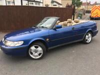 SAAB 9-3 CONVERTIBLE 2.0LTR TURBO - AUTOMATIC - 11 MONTHS MOT