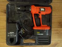 black and decker combi 18 volt cordless drill