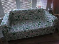 Ikea Cream 2 Seater Sofa with Sofa Cover