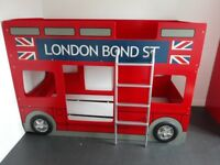 London Bond St Red Bus Bunk Bed