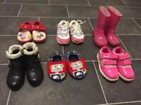 bundle of girls shoes size 5 toddler
