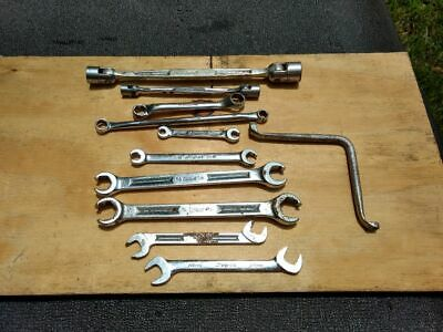 10 Snap-On wrenches various 1 Blue Point (engraving, rust, scratches etc)