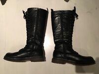 Black doc Martin style boots