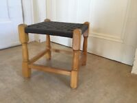 Vintage woven top low height stool