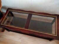 Coffee table (wood & glass)