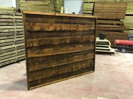 🌟 Superb Quality Heavy Duty Waneylap Pressure Treated Brown Fence Panels 8mm Boards