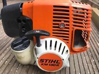 STIHL KOMBI KM130R POWER UNIT ENGINE WITH ADJUSTABLE HEDGE TRIMMER, STRIMMER /BUSH CUTTER