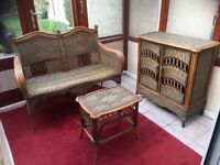 RATTAN SUITE AS NEW CAN DELIVER FREE