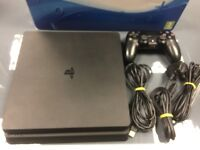 PS4 SLIM (BLACK) - 500GB - USED - CAN BE SWAPPED IN STORE FOR OLD GADGETS