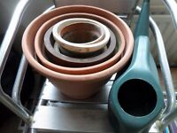 Community garden? 2 chairs, collection of pots and planters and compost for free