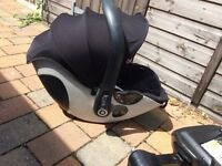 Kiddy Car seat inc isofix base , raincover, insect net great package vgc with manuals