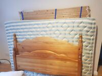 Perfect Condition Complete Pine Double Bed