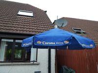 'CORONA EXTRA' parasol suitable for garden/restaurant/bar outdoor area