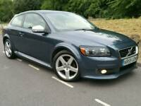 2009 59 VOLVO C30 R-DESIGN 1.6D DRIVE*FSH*1 LADY OWNER*LEATHER*CRUISE-C*R.TAX-£30+CHEAP INS#BMW#AUDI