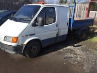 FORD TRANSIT. DOUBLE CAB TIPPER SMILEY DI