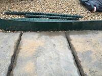 Plastic edging for garden