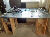 Glass Top Table (Ikea) suitable for student's room