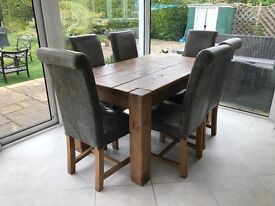 Whartons Furniture Dining Table and Six Chairs