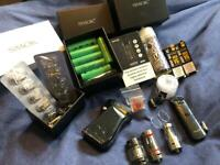 Smok Mag and Nord with coils, tanks, batteries and accessories