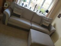 Sofa, cuddle chair and footstool set