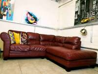 DFS Savoy saddle tan leather corner sofa RRP £1650