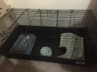 Indoor rabbit cage + all accessories for small animal