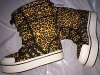 Adidas Honey Leopard Print Snow/Leisure Boots