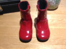 Girls red Lelli kelly boots size 21