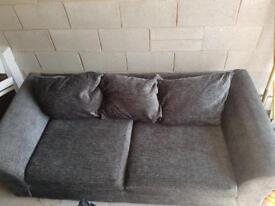 2 & 3 Seater Charcoal Sofa Argos Brilliant Condition