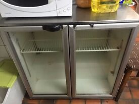 Small double door freestanding fridge