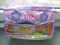30 piece Polly Pocket Dress Shop bag, doll and accessories £5