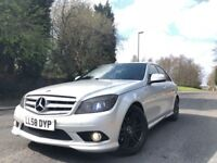 2008 58 PLATE MERCEDES C220 CDI AMG SPORT AUTOMATIC SAT NAV FULLY LOADED HPI CLEAR ***BARGAIN***