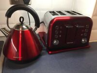 Kettle and toaster - Morphy Richards in Red