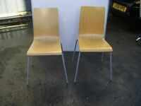 2 X WOODEN CHAIRS BOTH IN VERY GOOD CONDITION £15.00 THE PAIR