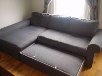 Sofa bed with chaise longue BACKABRO - Grey Color (Deliver Not Included)